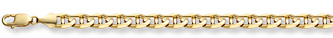 14K Gold 7mm Mariner Link Bracelet (Bracelets, Apples of Gold)