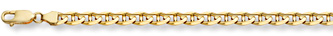14K Gold 6mm Mariner Link Bracelet (Bracelets, Apples of Gold)