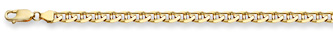 14K Gold 5mm Mariner Bracelet (Bracelets, Apples of Gold)