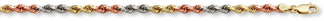 14K Tri-Color Gold Rope Chain (3mm)