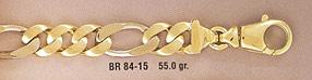 14K Gold Figaro Link Design Bracelet