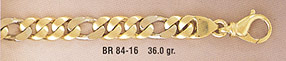 14K Gold Hand-Made Figaro Link Design Bracelet