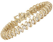 Flat Swirl Diamond Tennis Bracelet - 5.0 Carat Diamonds