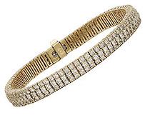 Classic Triple Rows Diamond Tennis Bracelet - 5.0 Carats