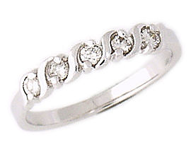 5 Stone S Groove Diamond Band