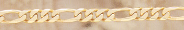 14K Gold Hand-Made 10mm Figaro Link Bracelet (Bracelets, Apples of Gold)