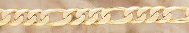 14K Gold Hand-Made 12mm Figaro Link Bracelet
