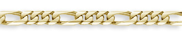 14K Gold Hand-Made 13mm Figaro Link Bracelet