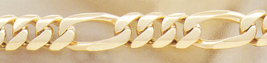 14K Gold Hand-Made 18mm Figaro Link Bracelet (Bracelets, Apples of Gold)