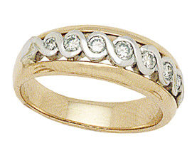 Buy 14K Two-Tone Gold 1/2 Carat Infinity Diamond Wedding Band