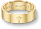 Celtic Cross Bible Verse Wedding Band