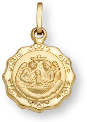 Baptism Pendant in 14K Gold