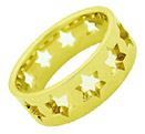 Star of David Wedding Band Ring, 14K Gold