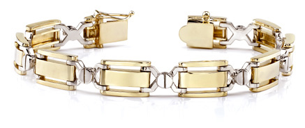 Designer 14k Gold Men's Bracelet