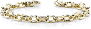 14K Gold Men's Link Connect Bracelet