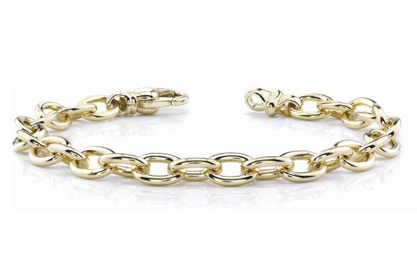 14K Gold Men's Link Connect Bracelet