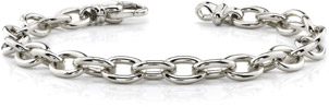 14K White Gold Men's Link Connect Bracelet