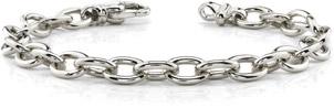 14K White Gold Men's Link Connect Bracelet