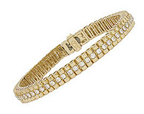 14K Gold 2.0 Carat Diamond Design Bracelet