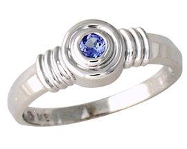 Buy Bezel Set Tanzanite Ring – 14K White Gold