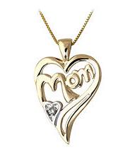 Buy Mom Diamond Heart Pendant – 14K Gold
