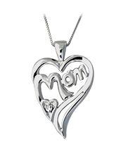 Buy Mom Diamond Heart Pendant – 14K White Gold