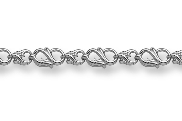 Buy 14K White Gold Paisley Bracelet
