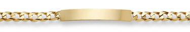 Curb Link ID Bracelet - 14K Gold