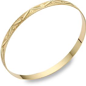 Buy Swiss-Cut 14K Gold Design Bangle Bracelet