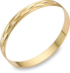 Buy 14K Gold Bangle Bracelet with Vine Design