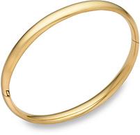 14K Gold Hinged Plain Bangle Bracelet (1/4
