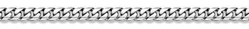 14K White Gold Curb Bracelet - 9.6mm