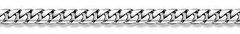 14K White Gold Curb Bracelet - 10.5mm