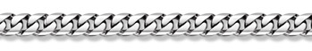14K White Gold Curb Bracelet - 12mm