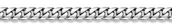 14K White Gold Curb Bracelet - 12mm
