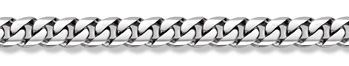 14K White Gold Curb Bracelet - 14mm