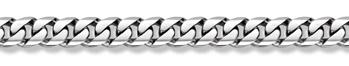 14K White Gold Curb Bracelet - 14mm