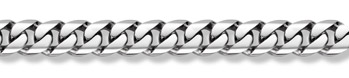 14K White Gold Curb Bracelet - 16mm