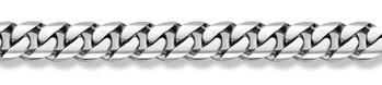 14K White Gold Curb Bracelet - 16mm