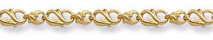 14K Gold Paisley Bracelet