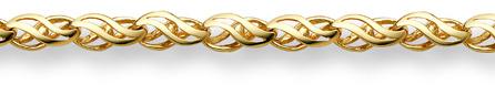 14K Yellow Gold Weave Bracelet
