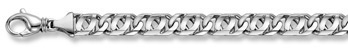 14K White Gold Double Curb Design Bracelet