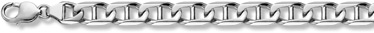 14K White Gold Mariner Bracelet - 11mm