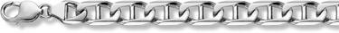 14K White Gold Mariner Bracelet - 13mm