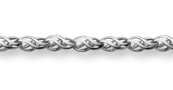 Buy 14K White Gold Weave Bracelet