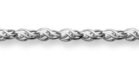 14K White Gold Weave Bracelet