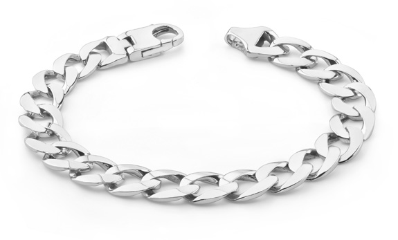 Buy 14K White Gold Curb Link Bracelet