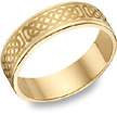 14K Gold Engraved Celtic Wedding Band