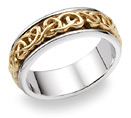 Bowen Celtic Wedding Band, 14K Two-Tone Gold