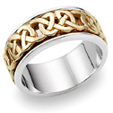 Caedmon 18K Two-Tone Gold Celtic Wedding Band